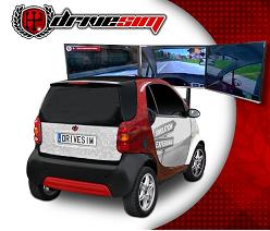simulador de conducción laboral con vehículo real
